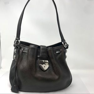 Bally Brown Leather Shoulder Bag SHW